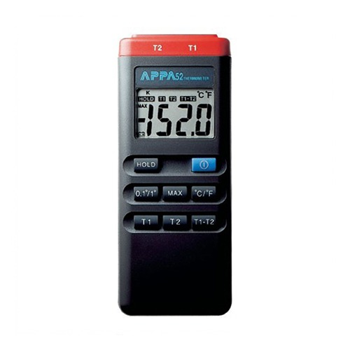 [APPA 52] K-type, -50°C~1300°C, LCD display(18.5mm), 디지털온도계(1ch), T1-T2reading